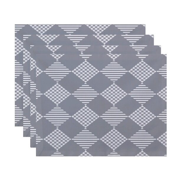 Geometric Print Placemat (Set of 4) by The Holiday Aisle