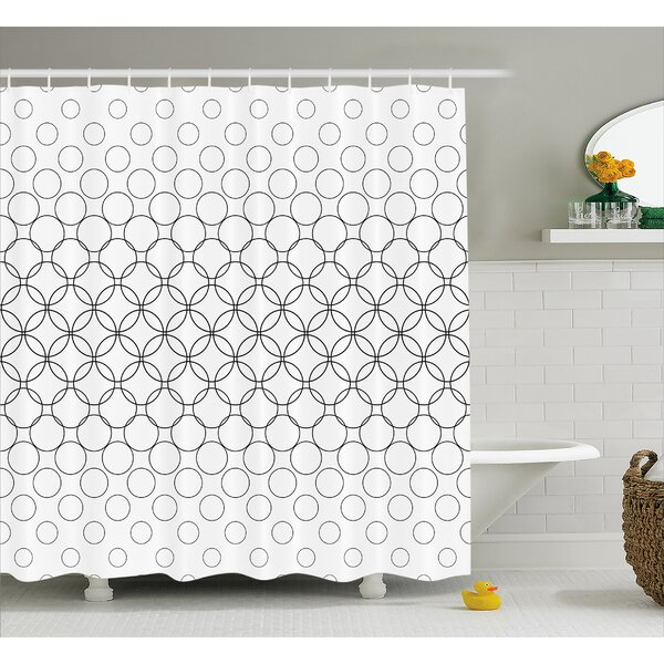 Circle Overlap  Decor Shower Curtain by East Urban Home