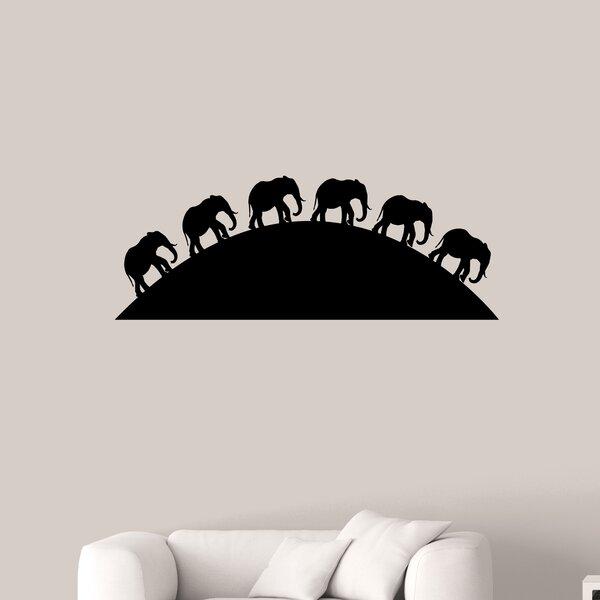 Jasinski Elephants on the Horizon Wall Decal by Zoomie Kids