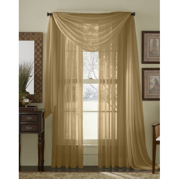 The Final Grab Inc. Solid Sheer Rod Pocket Curtain Panels