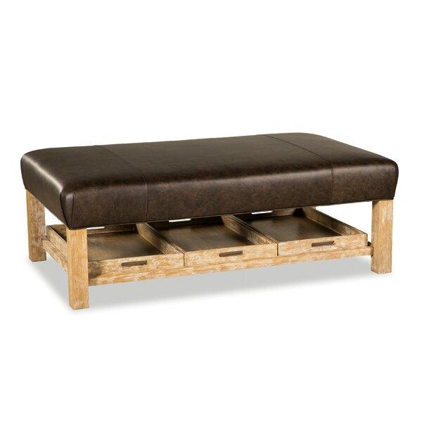 Review Winslow Leather Storage Ottoman