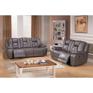 Fae Reclining 2 Piece Leather Living Room Set Red Barrel Studio