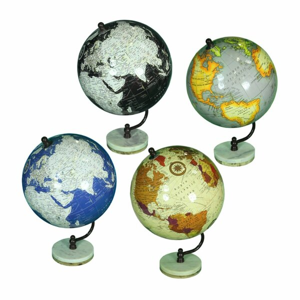 Pontiff Globe on Stand (Set of 4) by Winston Porter