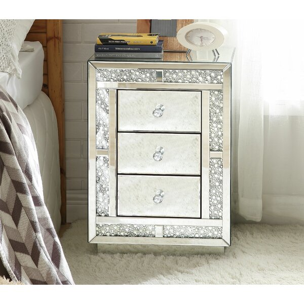 Sherlyn 3 Drawer Nightstand by Rosdorf Park