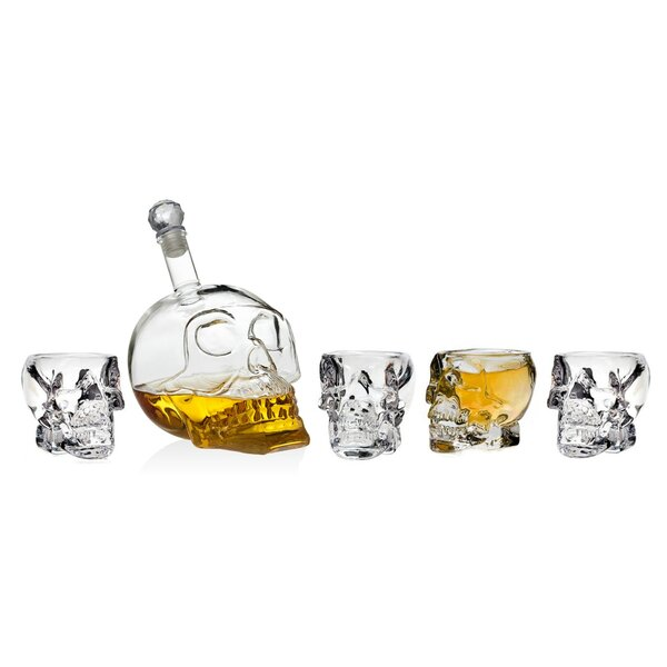 Balfor Skull 5 Piece Decanter Set by The Holiday Aisle