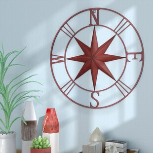 Antique Metal Compass Rose Wall Décor