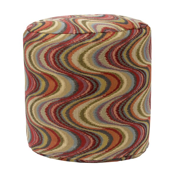 Frequency Tomato Tapestry Pouf by American Furniture Classics