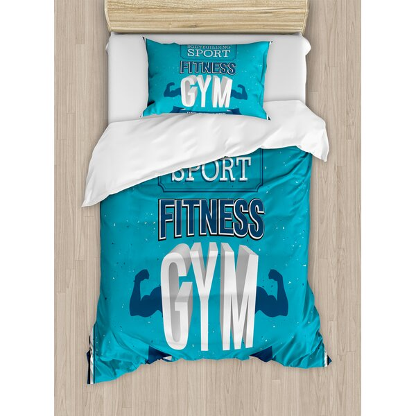 Fit For Life Bodybuilding Sport Biceps Sportsman Athletic Muscular Form Duvet Set by East Urban Home