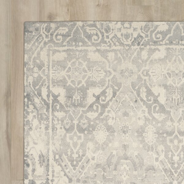 Katy Hand-Tufted Light Gray / Ivory Area Rug by August Grove