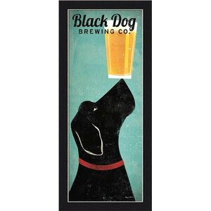 'Black Dog Brewing Company' by Ryan Fowler Framed Vintage Advertisement by Winston Porter