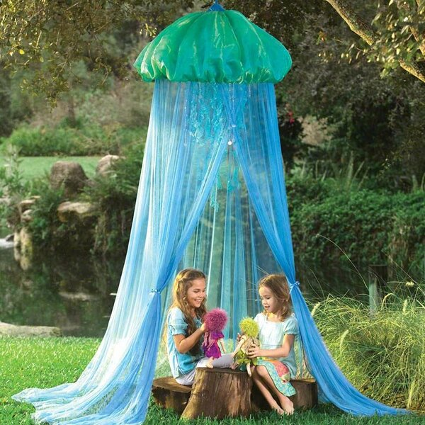Glow Jellyfish Sparkling Hideaway Bed Canopy for Kids by Magic Cabin