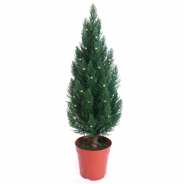 12 Cypress Artificial Christmas Tree with 50 White LED Lights by Kurt Adler