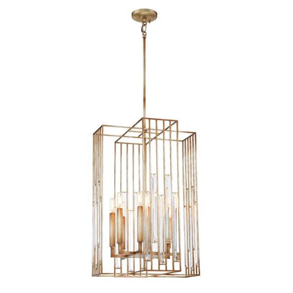 Ruxton 8 - Light Lantern Square Chandelier By Metropolitan By Minka