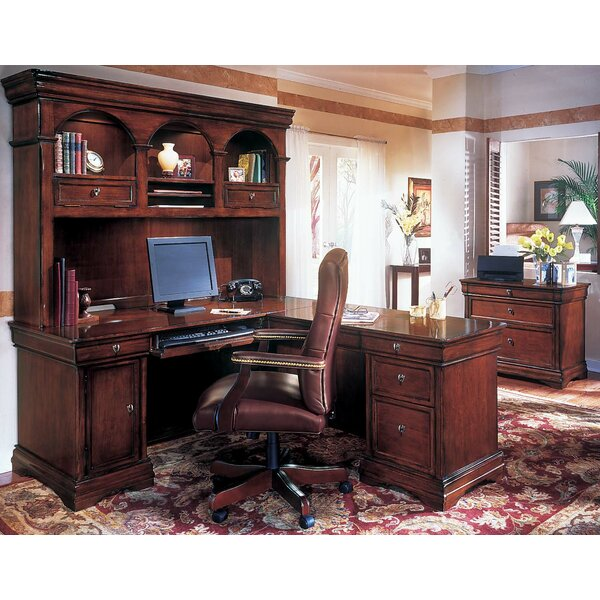 Flannagan 3-Piece L-Shape Desk Office Suite by Three Posts