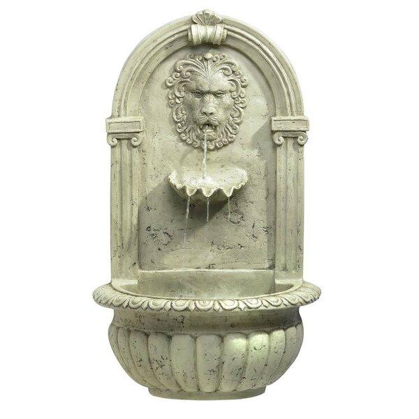 Fiberglass Regal Lion Fiberglass Wall Fountain by Zingz & Thingz