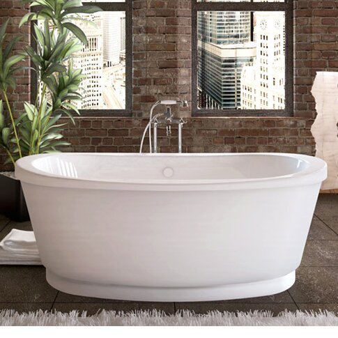Dhoni 65.37 x 35.37 Freestanding Soaking Bathtub by Spa Escapes