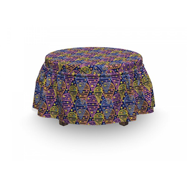 Memphis Ice Creams Ottoman Slipcover (Set Of 2) By East Urban Home