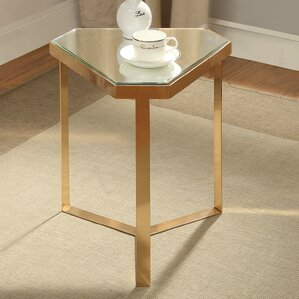 Adria Mirrored End Table by Mercer41