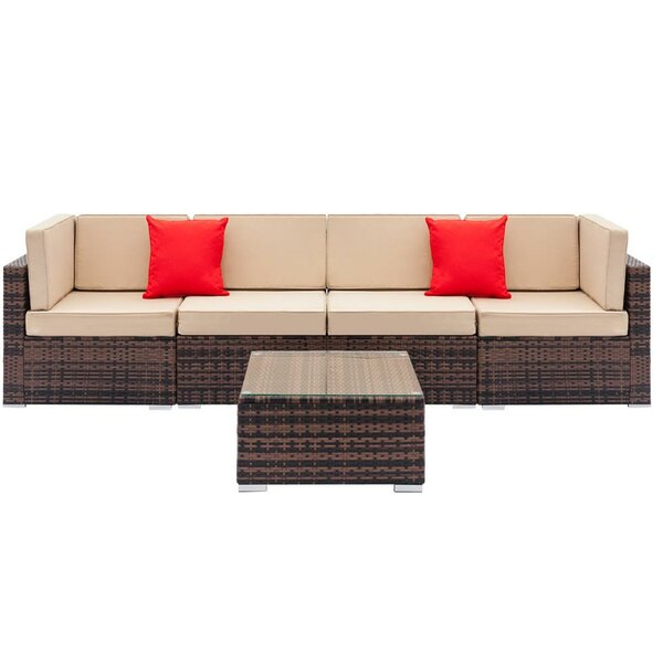 Fielder Sectional Seating Group with Cushions by Bay Isle Home