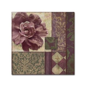 'Patch Work Brocade I' by Color Bakery Graphic Art on Wrapped Canvas by Trademark Fine Art