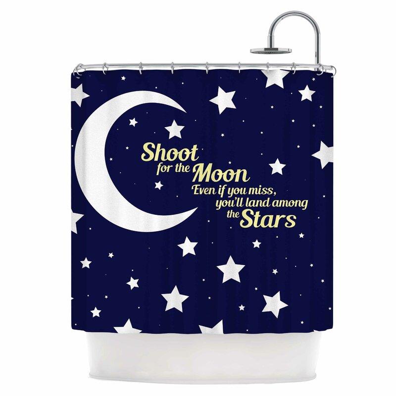 East Urban Home Moon & Stars Quote Shower Curtain   Wayfair