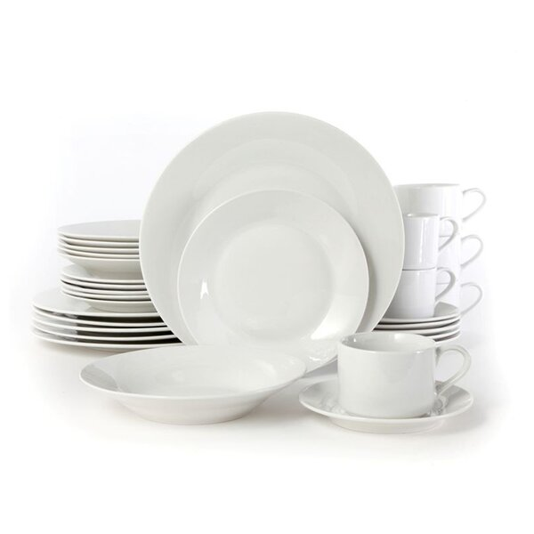 Uinta 30 Piece Dinnerware Set, Service for 6 by Charlton Home