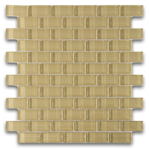 Earth 1 x 2 Glass Mosaic Tile in Khaki by CNK Tile