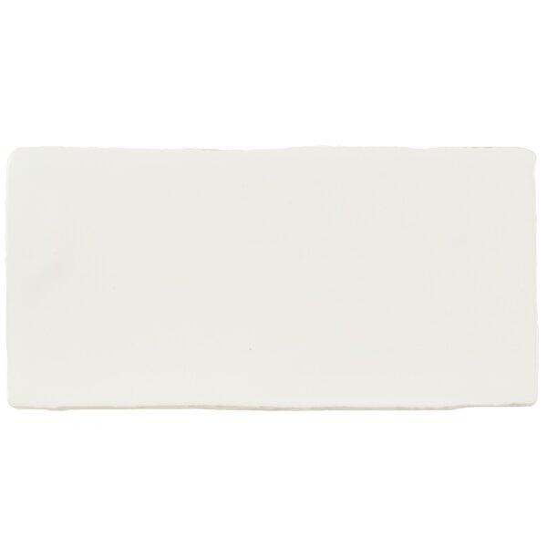 Tivoli 3 x 6 Ceramic Subway Tile in Matte White by EliteTile
