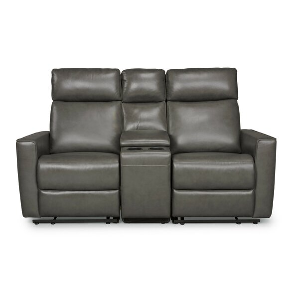 Pell Leather Reclining Loveseat by Latitude Run