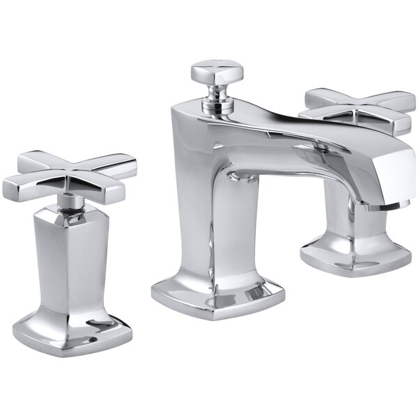 Margaux Widespread Bathroom Sink Faucet with Cross Handles by Kohler