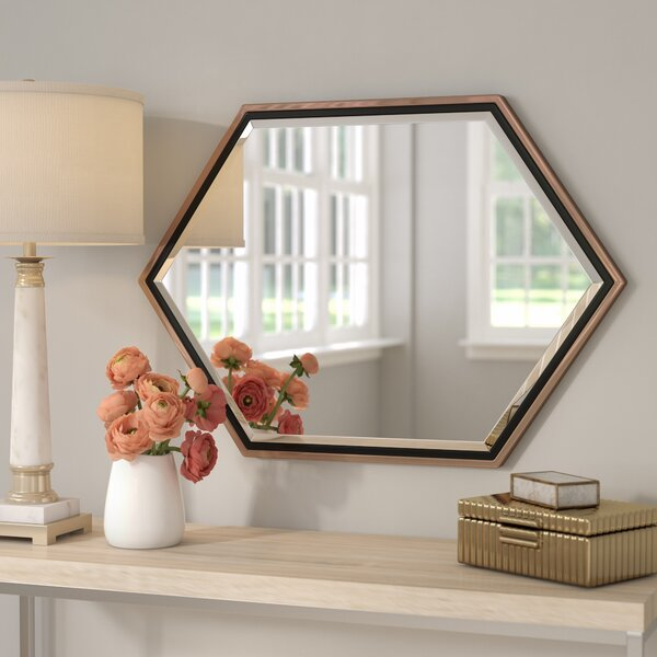 Contemporary Metal Frame Accent Wall Mirror by Wil