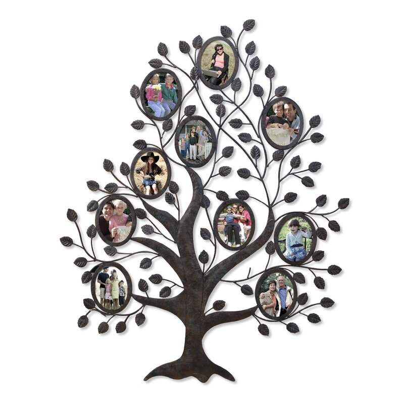 Red Barrel Studio Medlock 10 Opening Decorative Family Tree Wall ...