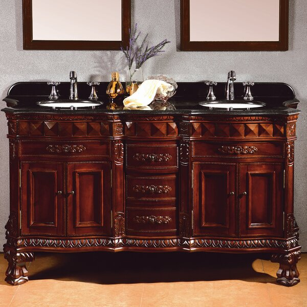 Buckingham 60 Double Bathroom Vanity Set by Ove Decors