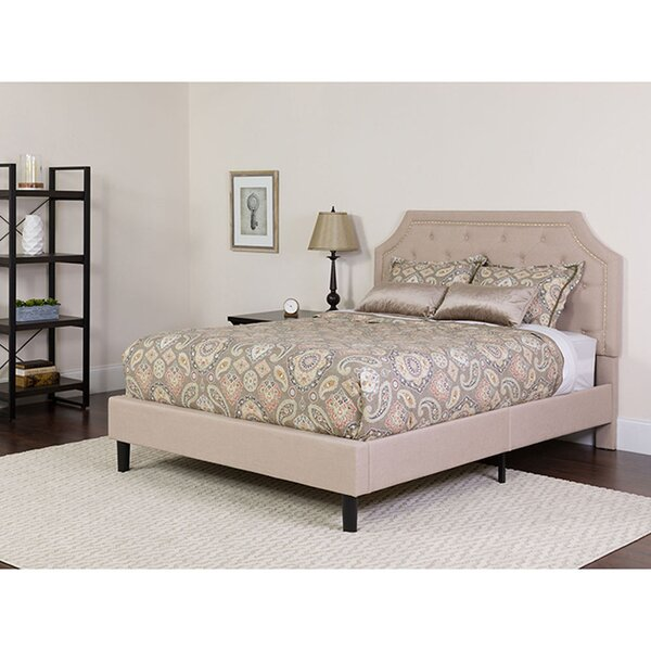 Mikaela Upholstered Platform Bed by Charlton Home