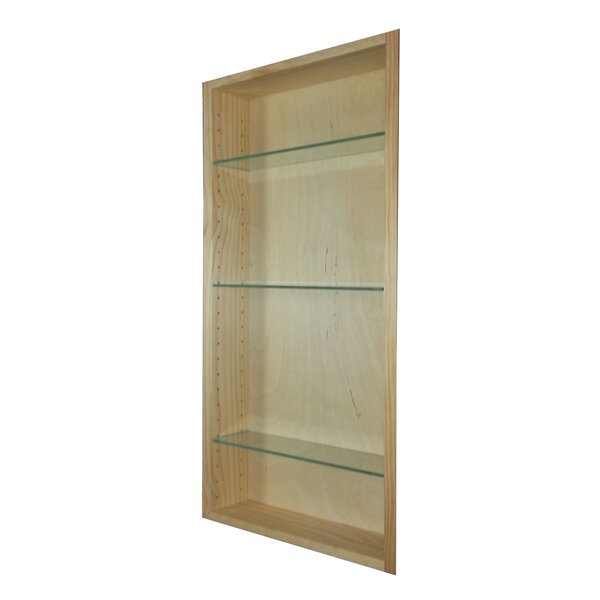 Aurora 13.5 W x 35.5 H Recessed Cabinet by WG Wood Products
