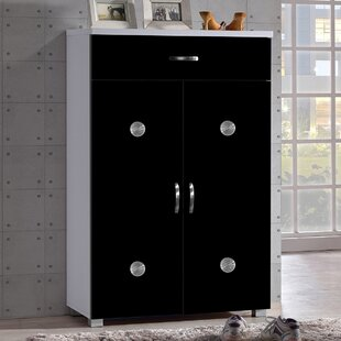 Bargain Spicer 15-Pair Shoe Storage Cabinet ByEbern Designs