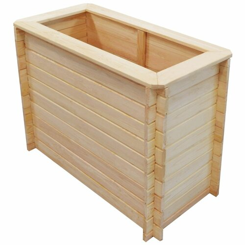 Garden Wood Planter Box Freeport Park Size: 80cm H x 100cm W