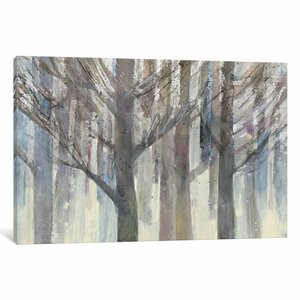 'Forest Light' Painting Print on Wrapped Canvas by Charlton Home