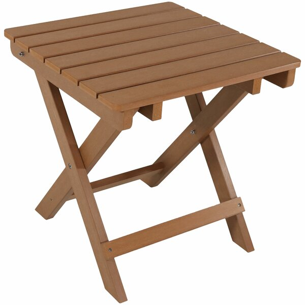 Mattias Folding Plastic Side Table by Millwood Pines