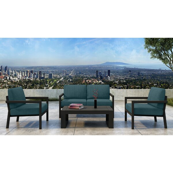 Iliana 4 Piece Deep Seating Group with Sunbrella Cushions (Set of 4) by 17 Stories 17 Stories