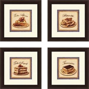 'Kitchen Torta Alpine' 4 Piece Framed Vintage Advertisement Set by Red Barrel Studio