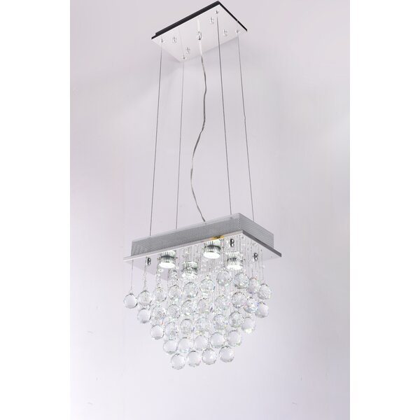 Ornelas 4 - Light Unique / Statement Square / Rectangle Chandelier by House of Hampton House of Hampton