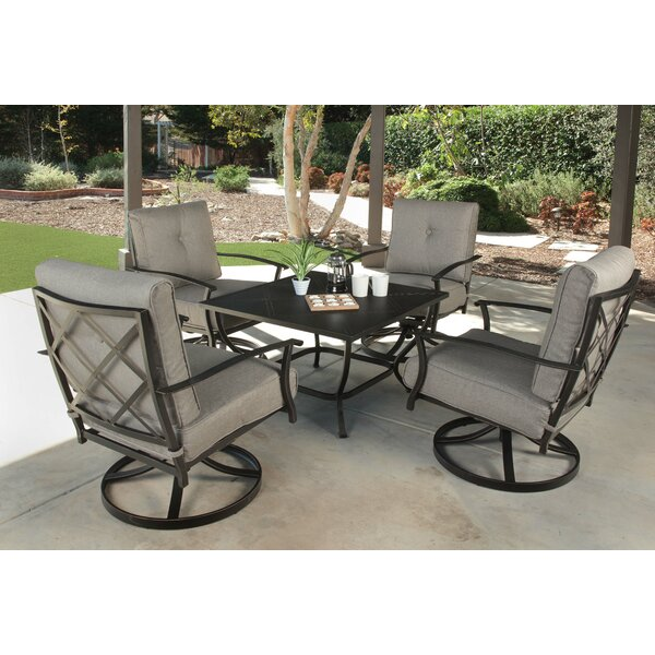 Beckham 5 Piece Multiple Chairs Seating Group with Cushions by Canora Grey