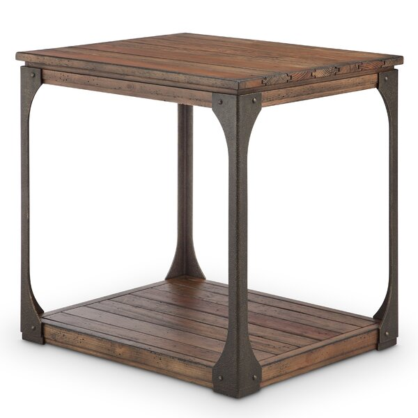 Aradhya Wood End Table by 17 Stories