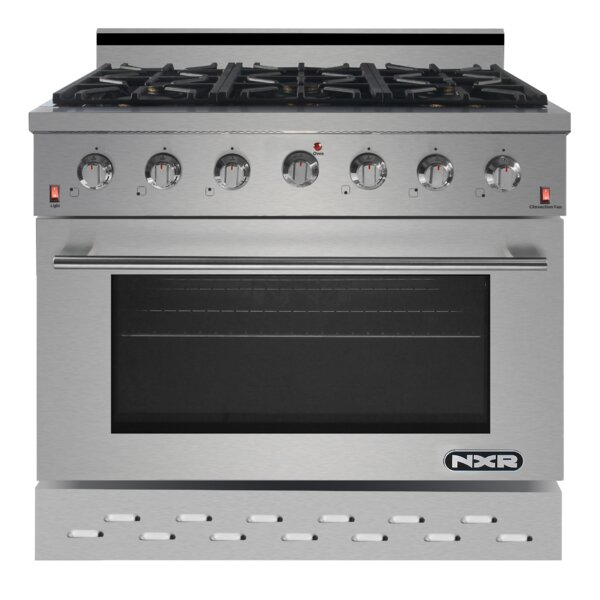 36 Free-standing Gas Range by NXR Professional Ranges