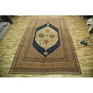Bissette Traditional Bidjar Halvaei Persian Hand-Knotted Wool BrownBlack IndoorOutdoor Area Rug