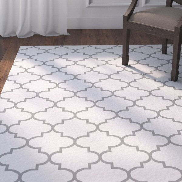 Palladio Hand-Woven White/Charcoal Area Rug by Darby Home Co