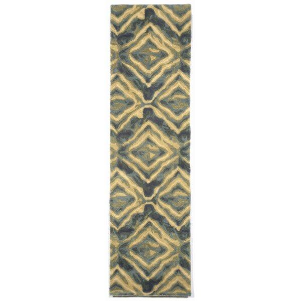 Terrill Hand Tufted Wool Blue/Yellow Area Rug by Brayden Studio