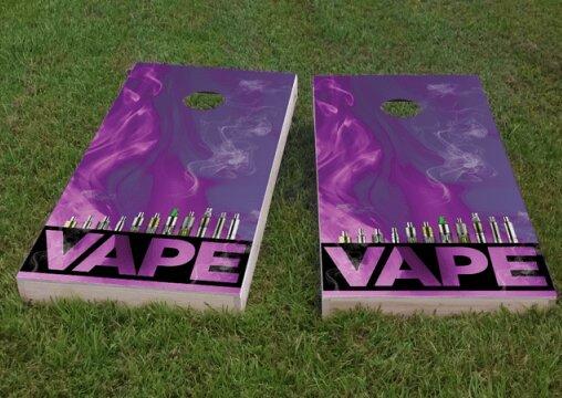 Electronic Cigarette and Vape Cornhole Game (Set of 2) by Custom Cornhole Boards