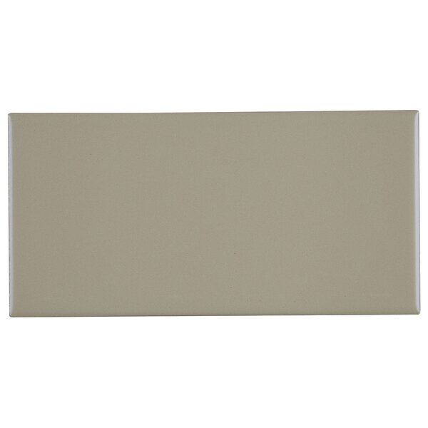 Berkeley 4 x 8 Ceramic Subway Tile in Matte Architectural Gray by Itona Tile